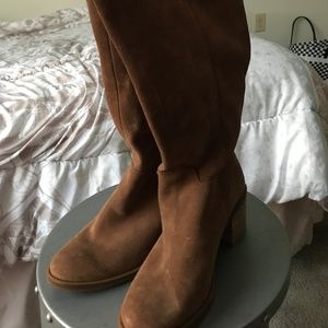 Brown Lucky Brand Suede Boots